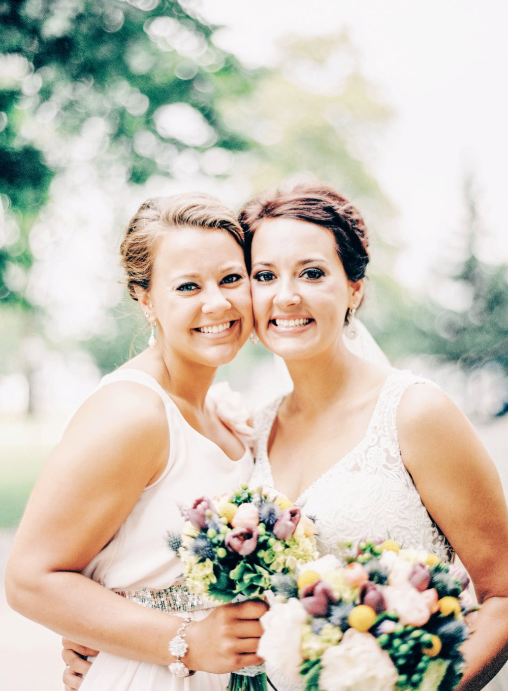 Bride and Bridesmaid in Little Falls
