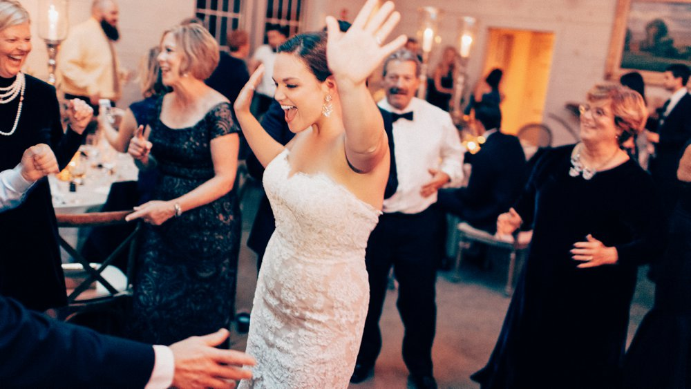 This bride was totally owning the dance floor at her Hidden Pond Luxury Resort wedding.