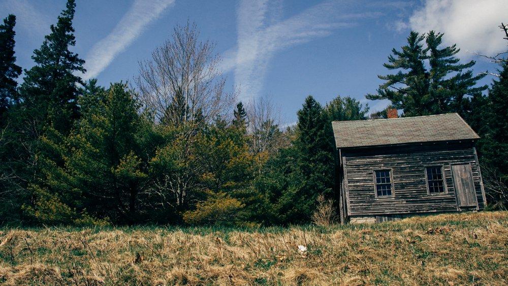 An abandoned cabin at Acadia National Park.