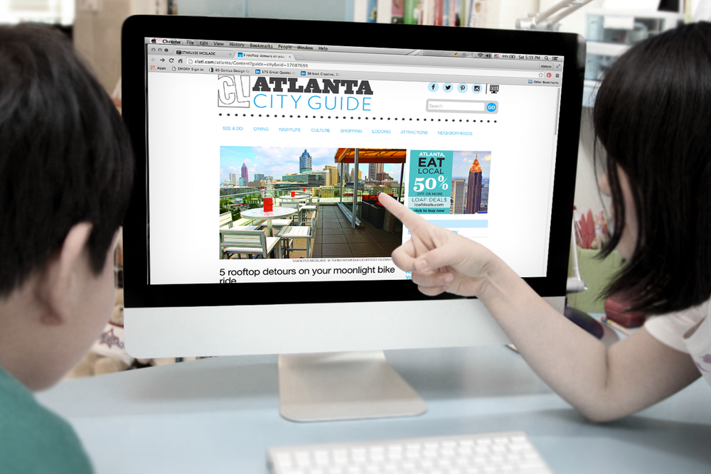 Creative Loafing Atlanta City Guide featuring photography by Starlyss McSlade (ToriStar Media) in an online article.