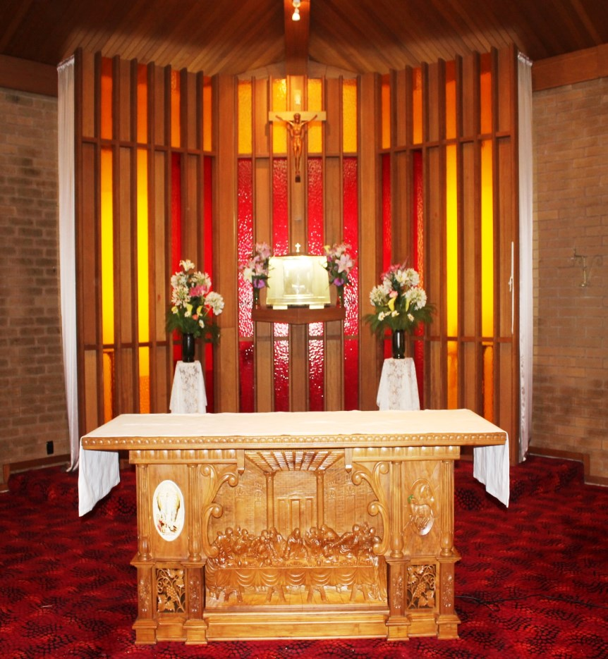 As we celebrate the glorious moment of our Parish, our new altar which is dedicated today will stand as a memorial of our Golden Jubilee. -