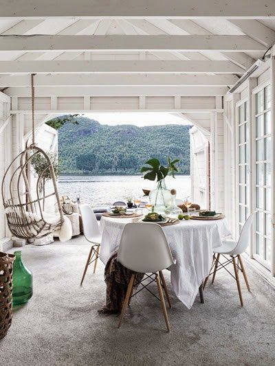 The most perfect boathouse via Anna Truelsen.
