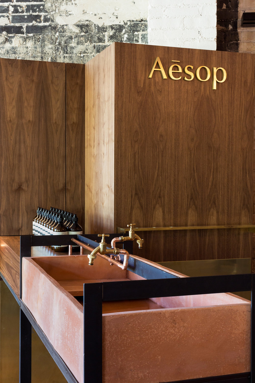 Aesop store in Florida. Interior design by Mexican architect Frida Escobedo.