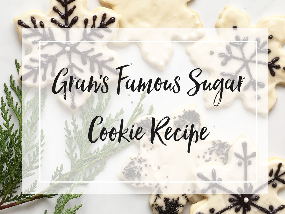 Gran's Famous Sugar Cookie Recipe