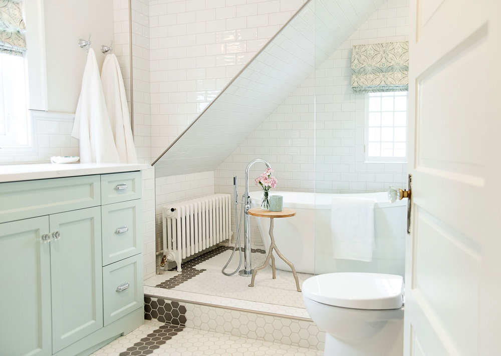 A hundred-year old home gets a bathroom makeover