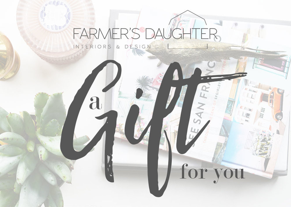 FARMER'S DAUGHTER INTERIORS GIFT IDEAS