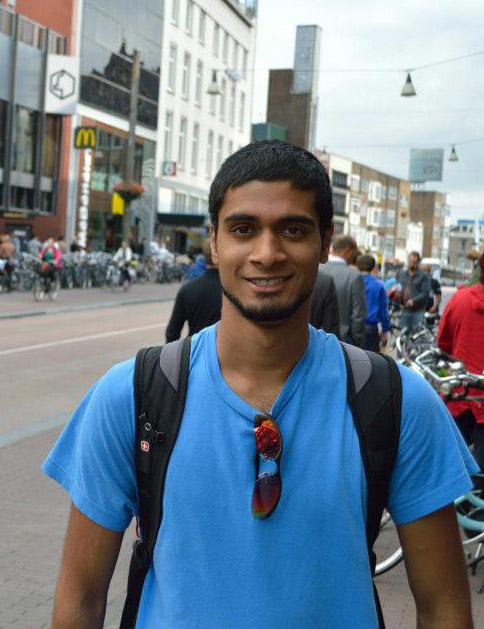Picture taken of me in Utrecht, by Ravi Ganti