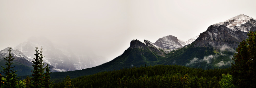 Almost Tolkienian, these Mountains are near Banff  Nikon D3200