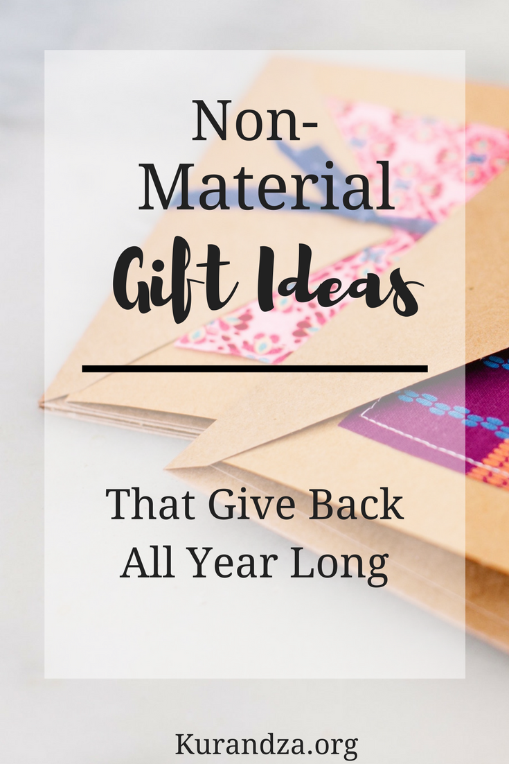 Non-material gifts don't always get the hype they deserve, but whether its for your child, a relative, or your best friend, choosing to give them a gift that gives back will keep the holiday cheer going long after the presents are unwrapped.