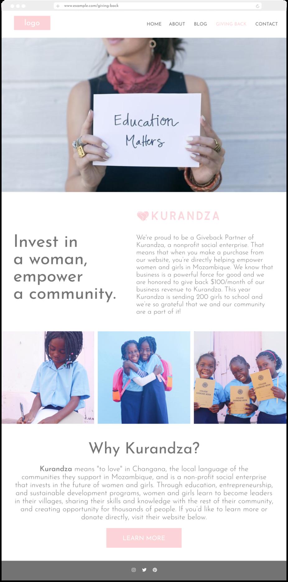 kurandza giving back page.png