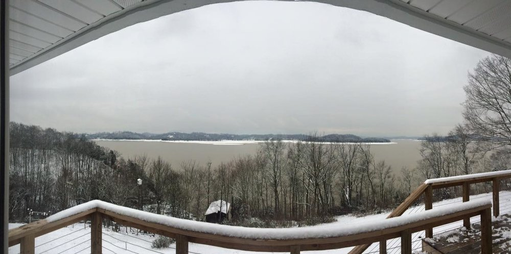 The view from our pad in Dandridge, TN