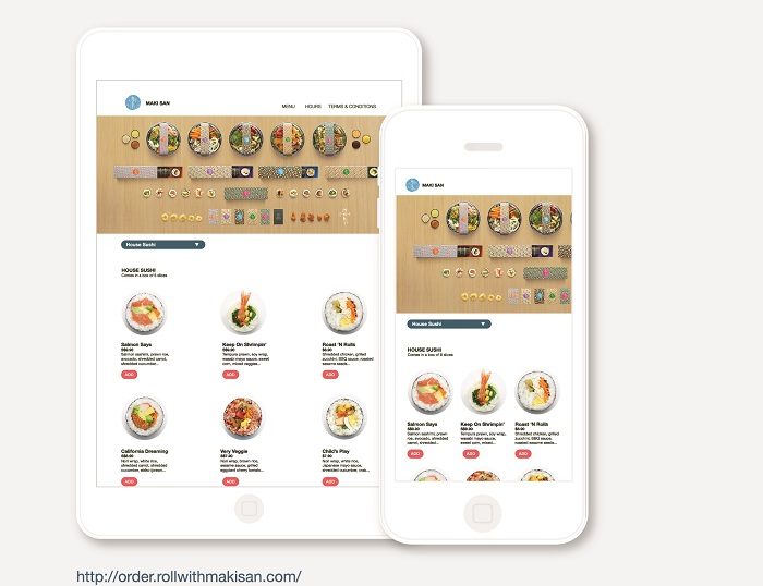 Online ordering menu of Maki-San powered by Oddle