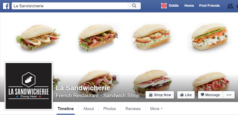 Facebook Page of La Sandwicherie, Hong Kong
