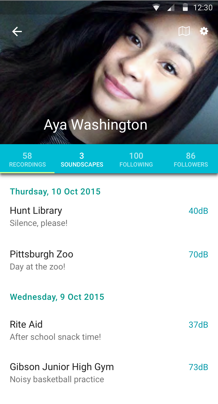 Aya's Profile - Her Recordings