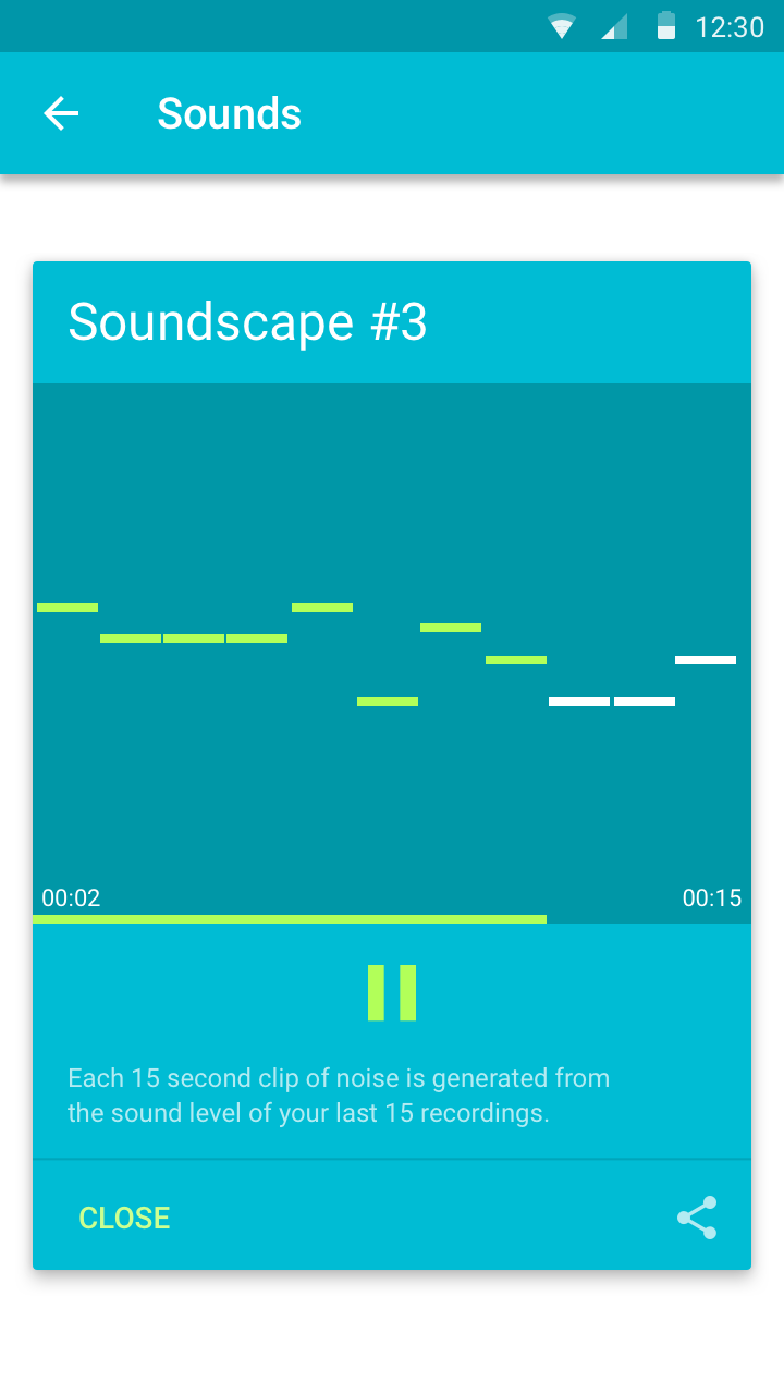Soundscape: Data sonification playback