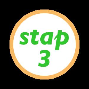 Stap 3 ..