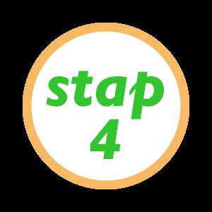 Stap 4 ..