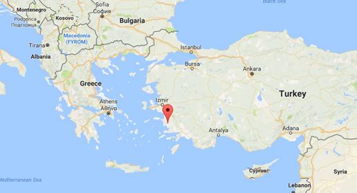 The location of the Diaspore mine (map Source: Googlemaps.com)