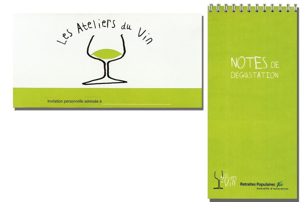 Création d'une série d'ateliers à thème sur le vin pour Retraites Populaires