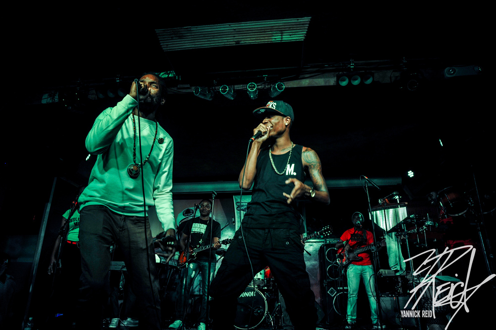 "Kabaka and Masicka performing "" Choppinz """