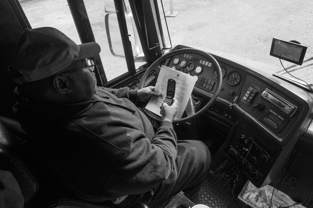 Tour Bus driver; Tiny