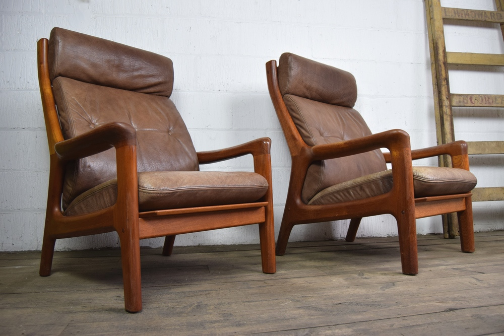 1960s/70s Danish Thams Leather Chairs & 1960s/70s Danish Thams Leather Chairs u2014 Vintage Mischief