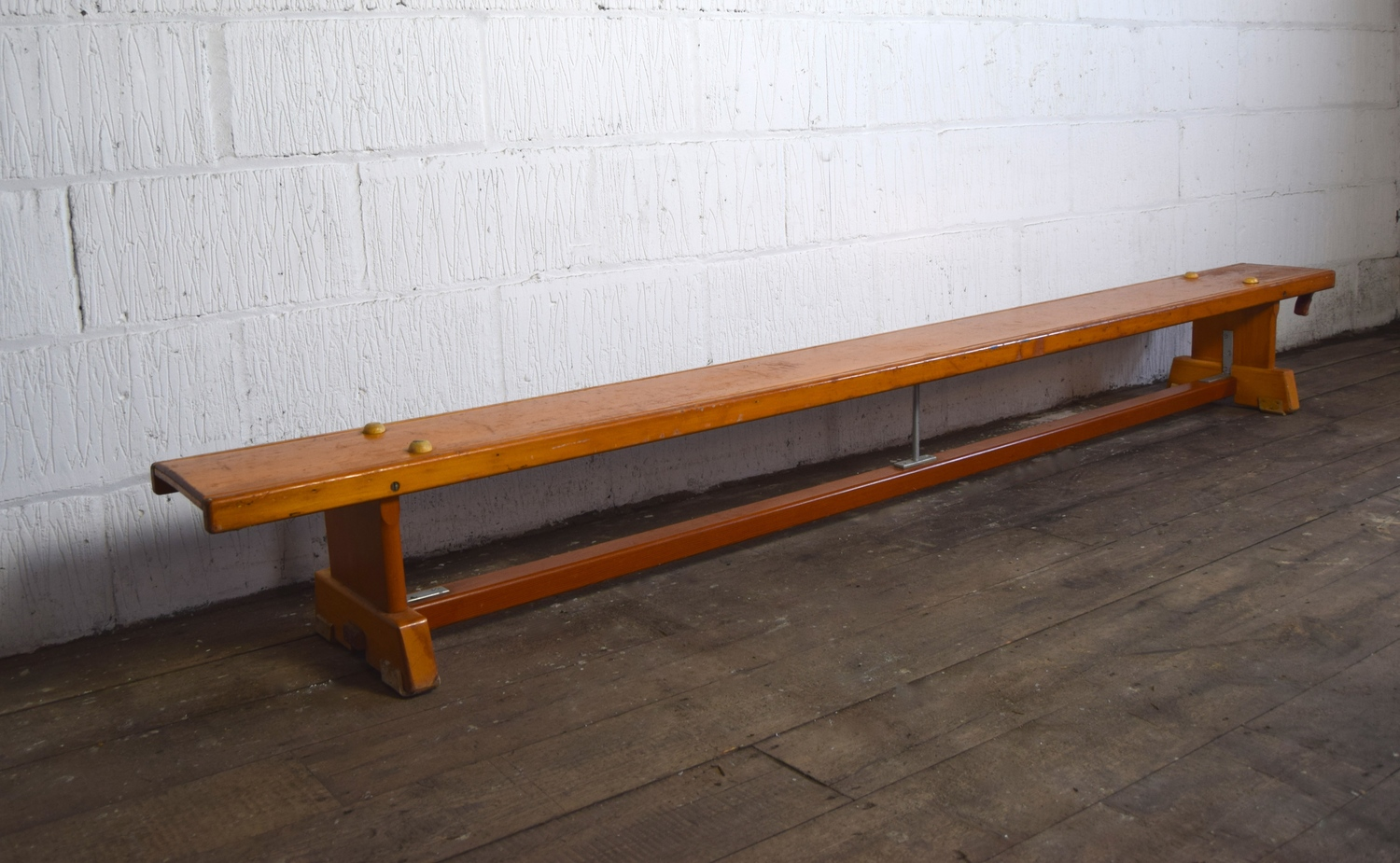 Fabulous Vintage 1960S Wooden School Gym Bench Vintage Mischief Theyellowbook Wood Chair Design Ideas Theyellowbookinfo