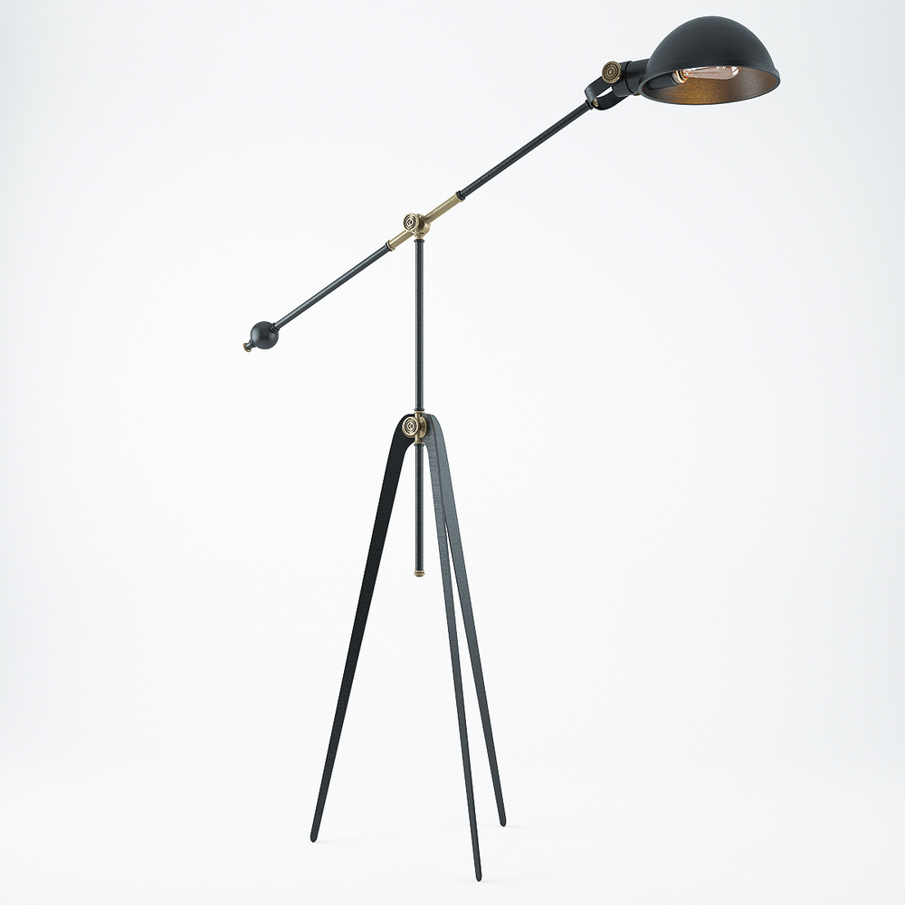brass tripod lamp