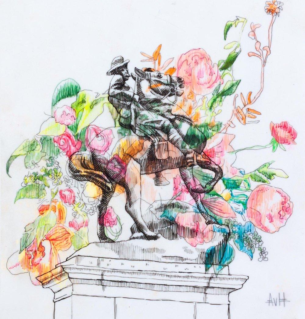 War Memorial and Flowers