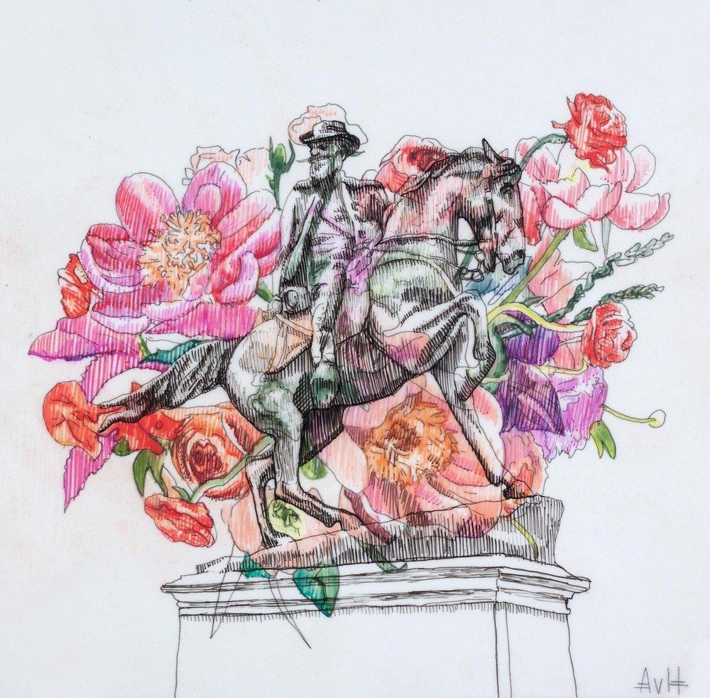 War Memorial and Flowers II