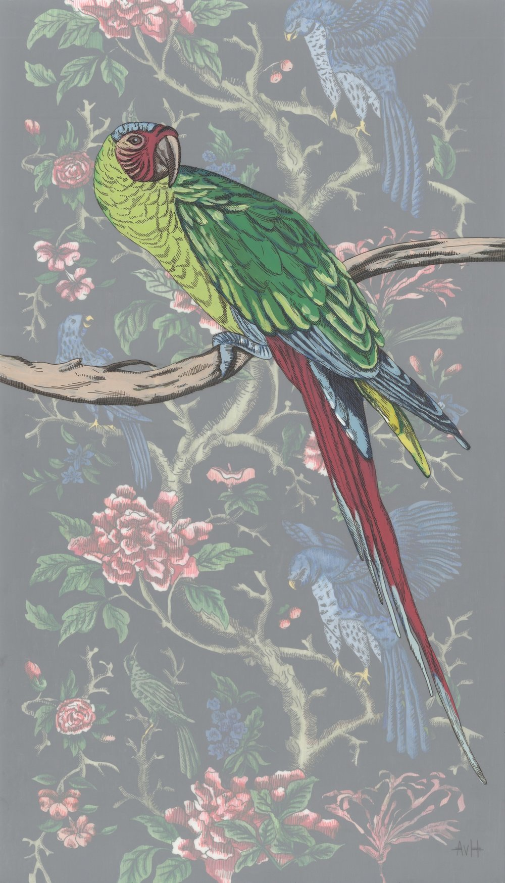 Botanical Parrot I