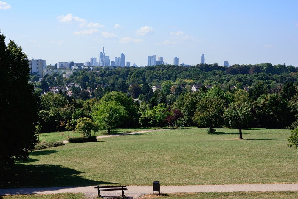View of Frankfurt skyline from Lohrberg (Photo copyright © by Anne Noble)