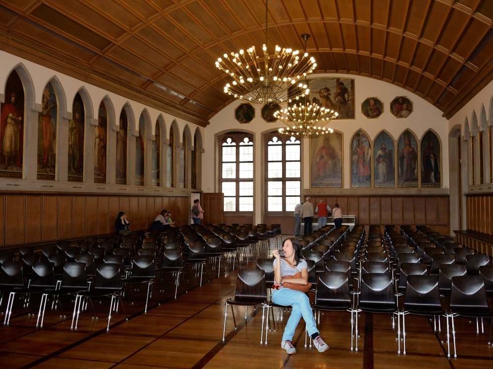 Inside the Kaisersaal with it's 52 portraits of the Holy Roman Emperors