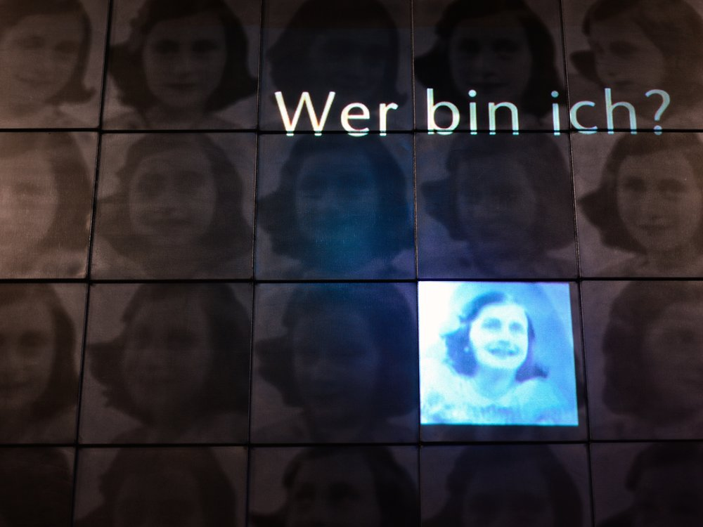 An exhibit from the Bildungsstätte - Anne Frank in Frankfurt