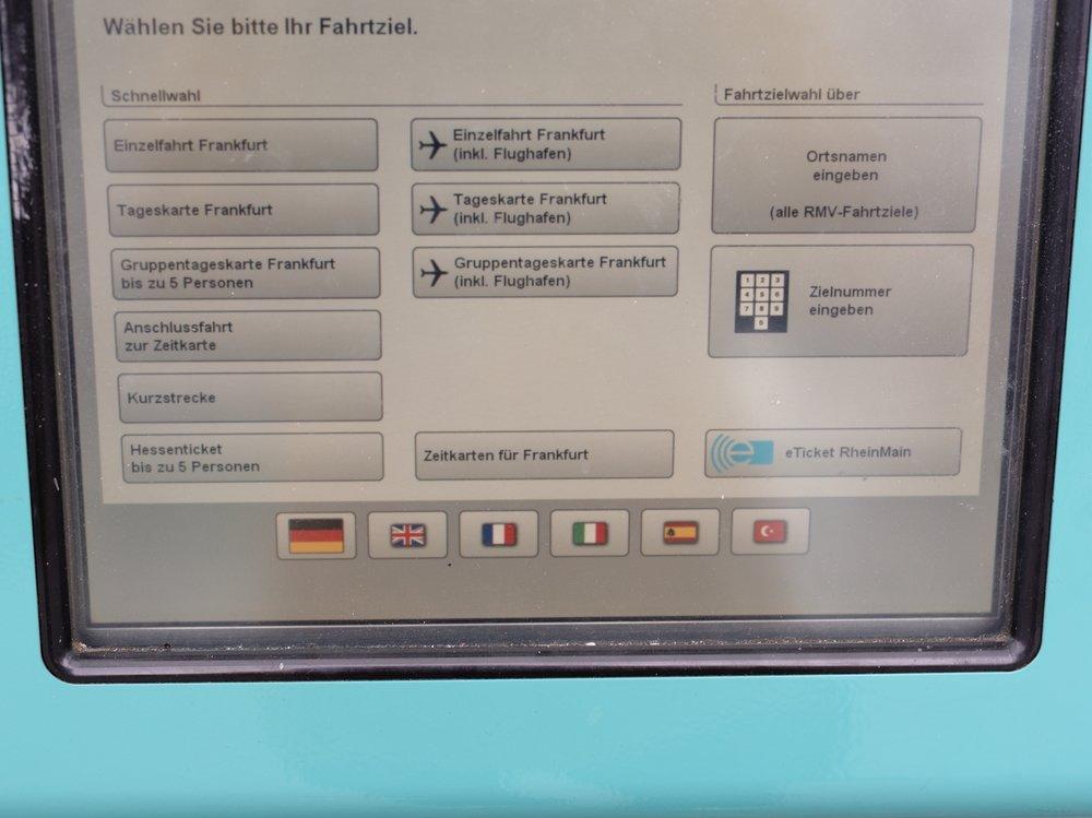 Main menu - select language flag