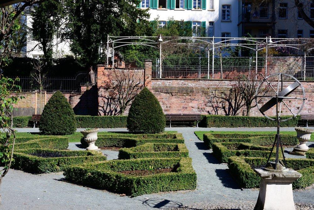 Italian sunken garden