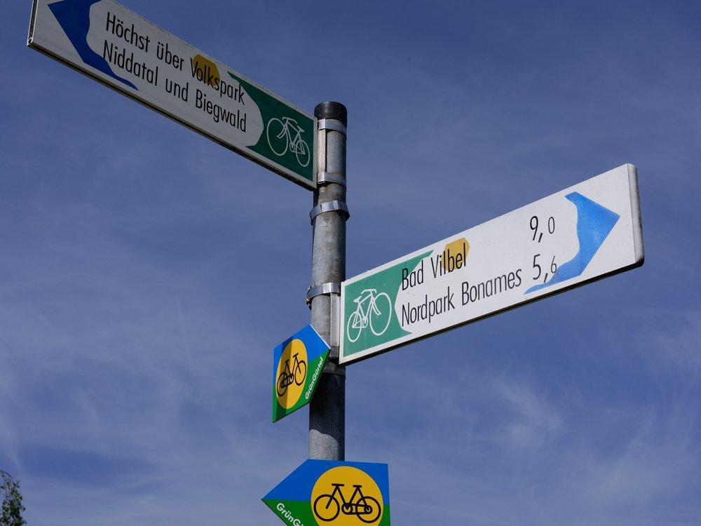 Cycle routes at Am Bubeloch