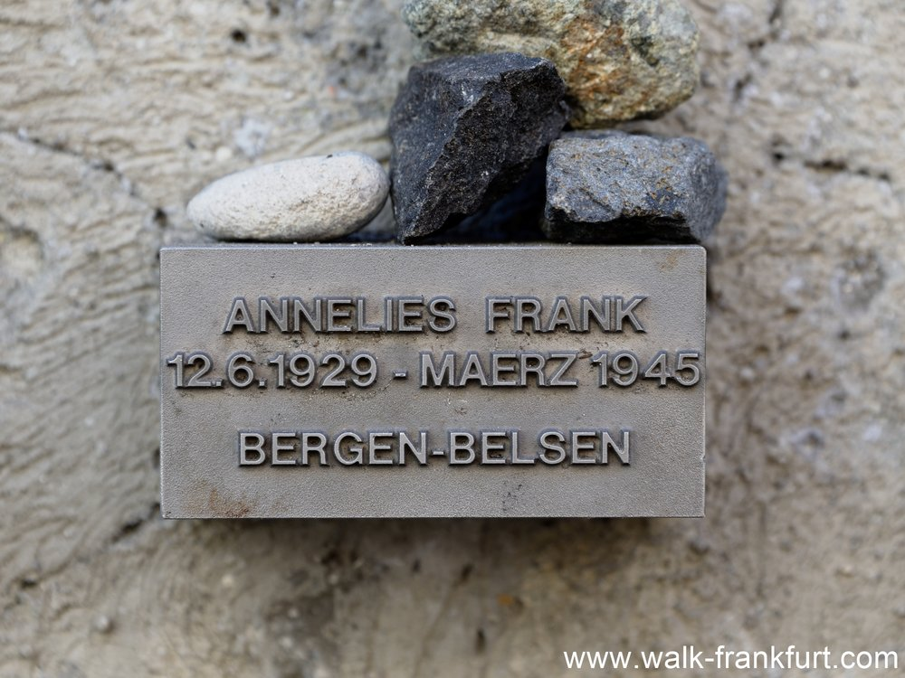Anne Frank commemorative plaque
