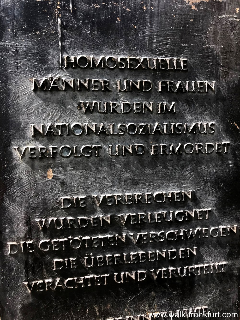 Frankfurter Engel inscription
