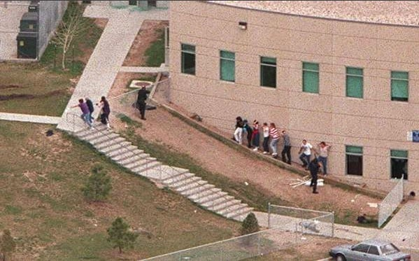 April 20, 1999: Outside of Columbine High School