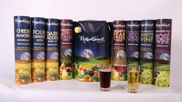 The moonshine drinks product range