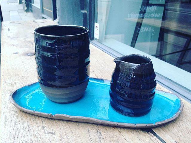....up for a cup of tea darling?😍😋💙 www.trinefournais.dk #trinefournaisceramics #ceramics #interior #design #tea #coffee #craft #handmade #copenhagen #shopping #frederiksberg #keramik #kitchenware #cup