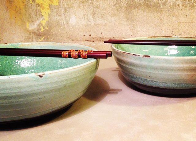 Ramen bowls💚 www.trinefournais.dk #trinefournaisceramics  #ceramics #ramen #bowls #kitchenware #interior #design #craft #handmade #cafe #frederiksberg #copenhagen