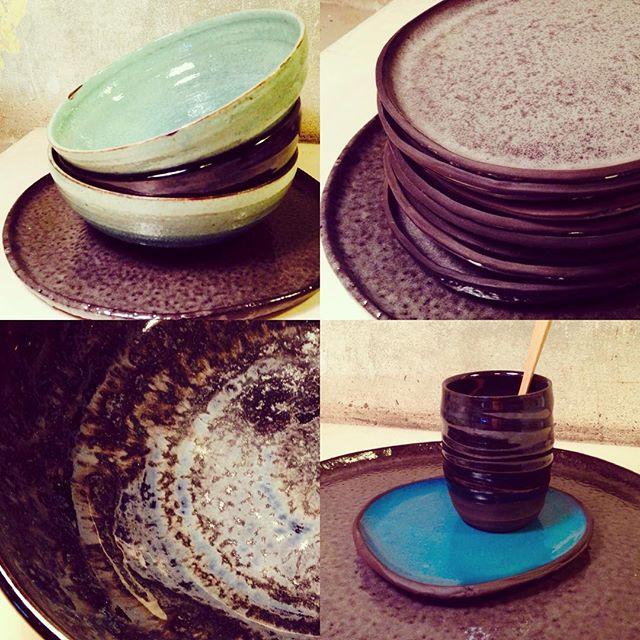 New piles of plates and ramen bowls in the shop🍜👀 www.trinefournais.dk #trinefournaisceramics #clay #interior #design #handmade #ceramics #ramen #plates #cafe #shopping #frederiksberg #copenhagen