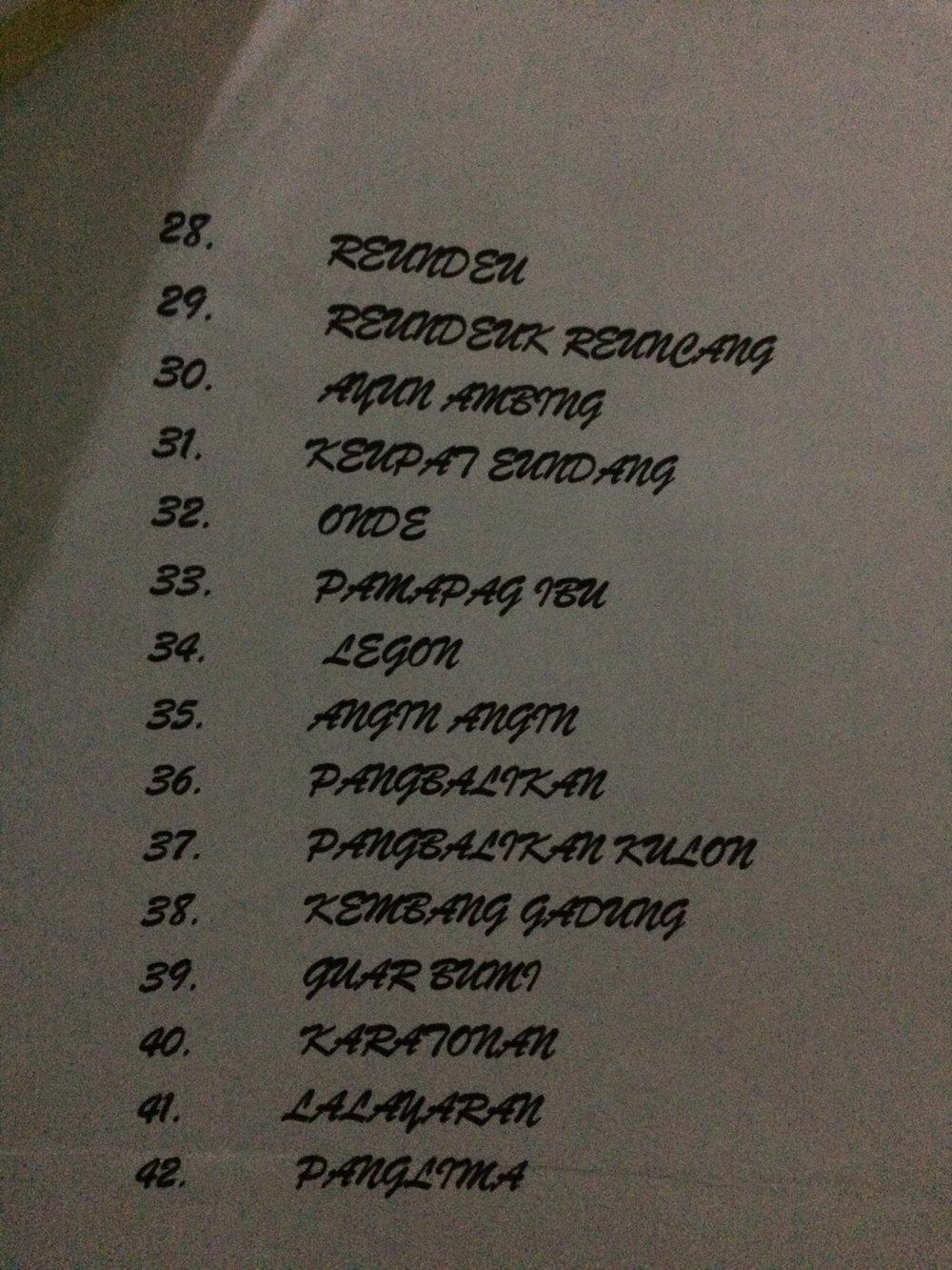 répertoire du tarawangsa