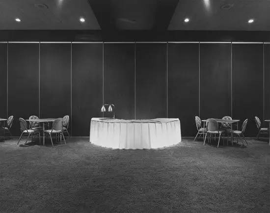 Banquet Hall , 1976, gelatin silver print