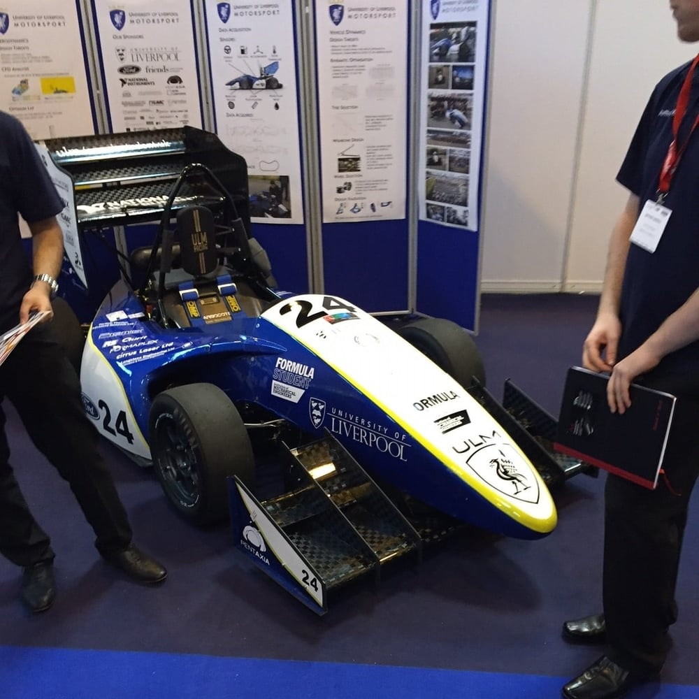 District Designs - Advanced Engineering show - University of Liverpool Motorsport Engineering