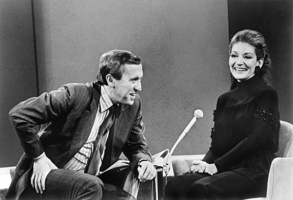 Maria Callas avec David Frost 1970 © Fonds de Dotation Maria Callas