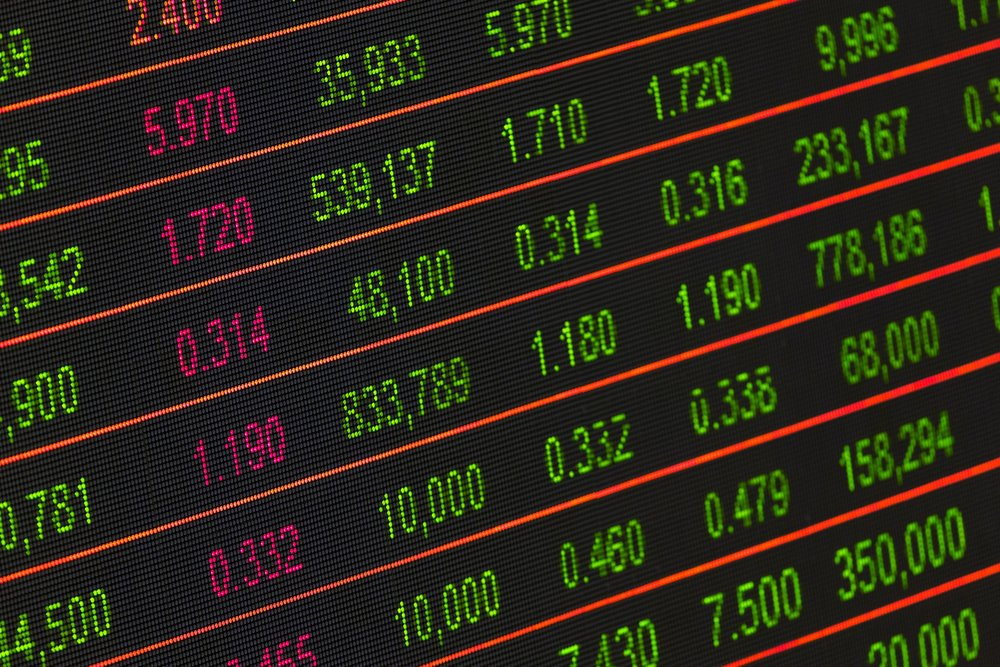 trading stocks market board