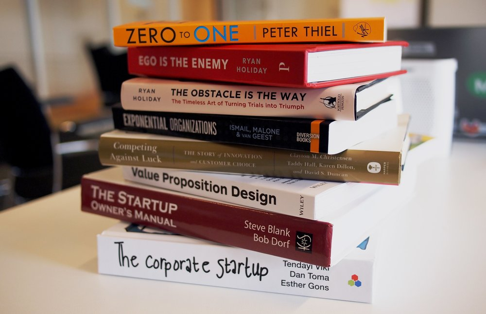 stack of good business books